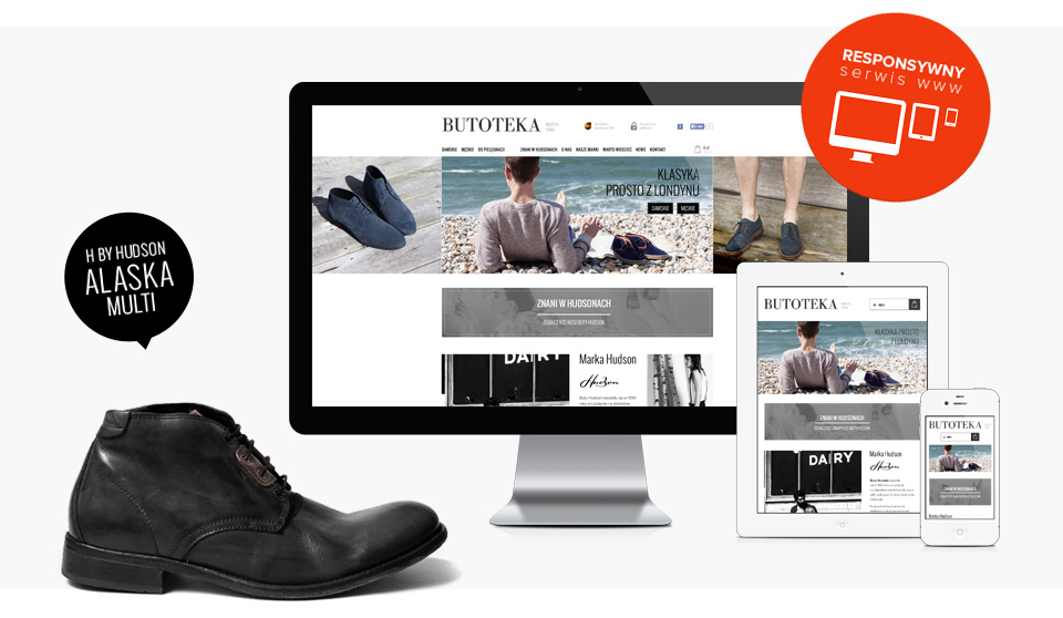 responsive website design online store online store Butoteka Krakow Poland London shoes style
