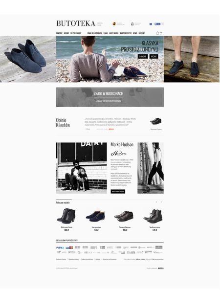 responsywny sklep www - londyńskie buty z Krakowa Butoteka